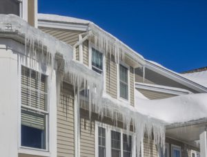 roof repair because of ice damage