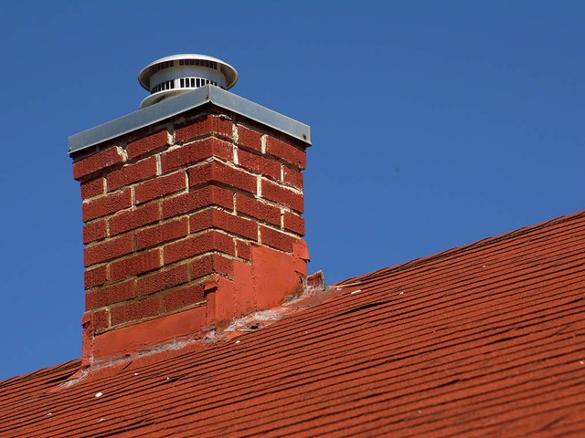 Inspect flashing around your fireplace chimney